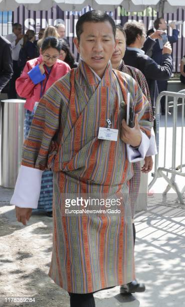 Candid portrait of Lotay Tshering, Prime Minister of Bhutan, during the 74th session of the General Assembly at the UN Headquarters in New York,...