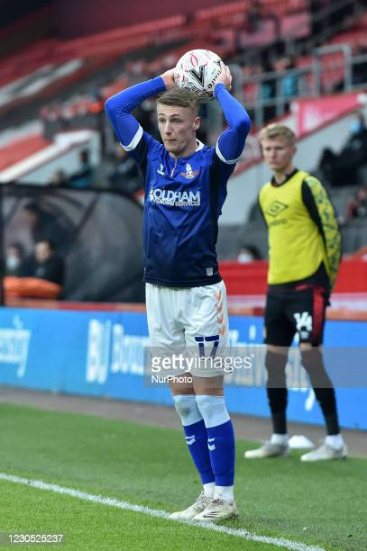 Candid portrait of Oldham Athletic's Jordan Barnett during the FA Cup match between Bournemouth and Oldham Athletic at the Vitality Stadium,...