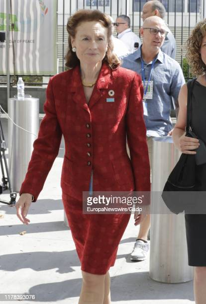 Candid portrait of UNICEF Executive Director Henrietta H Fore during the 74th session of the General Assembly at the UN Headquarters in New York,...