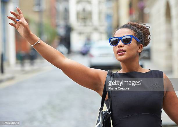 Candid portrait of woman on street