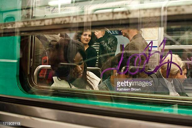 CONTENT] Candid shot of 4 sleeping people on the Metro Paris in 2010