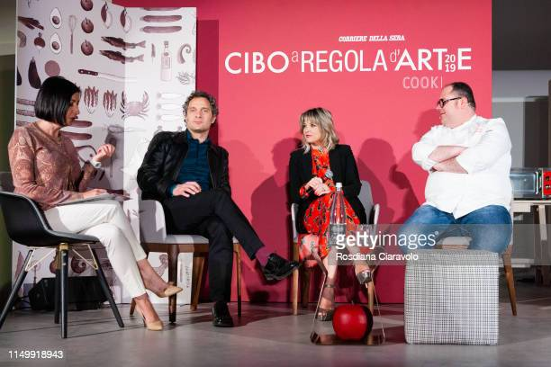 "Candida Marvillo, Claudio Santamaria, Francesca Barra and Vitantonio Lombardo attend the ""Cibo A Regola D'Arte 2019"" at Fabbrica del Vapore on May..."
