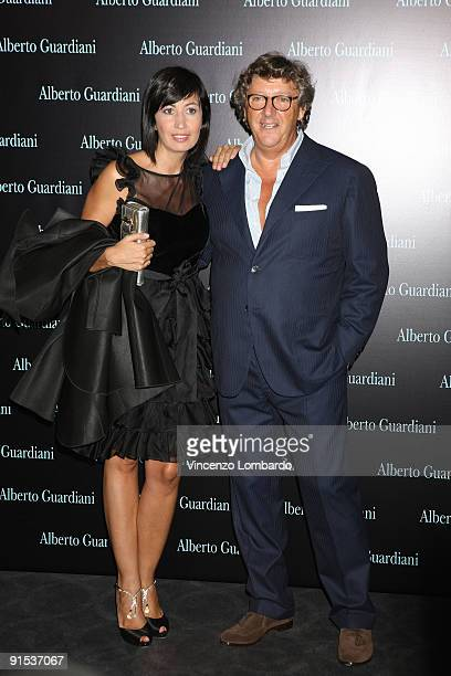 Candida Morvillo and Alberto Guardiani attend the Alberto Guardiani Dance Chic Party on September 17, 2009 in Milan, Italy.