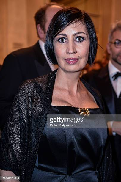 Candida Morvillo at Teatro Alla Scala on December 7, 2015 in Milan, Italy.