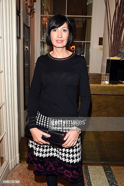 Candida Morvillo attends CONFUSI E FELICI Dinner Party at Caruso at Grand Hotel Et De Milan on October 28, 2014 in Milan, Italy.