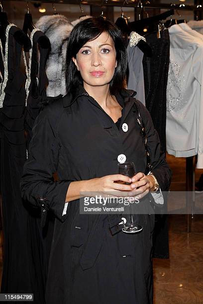 Candida Morvillo attends John Richmond Cocktail as part of the Paris Womenswear Fashion Week Spring/Summer 2010 at John Richmond boutique on October...