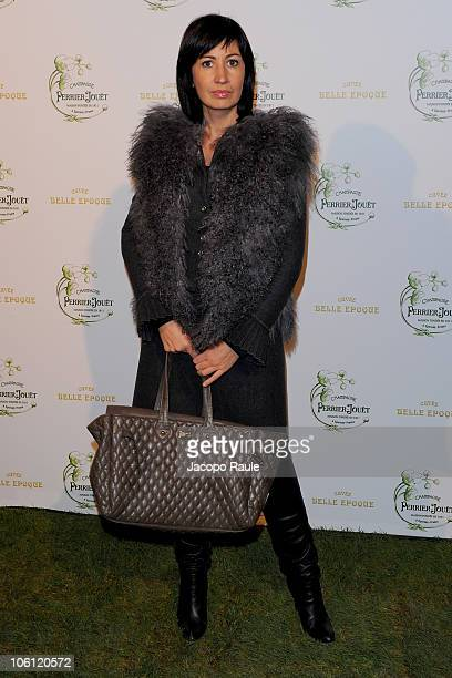 Candida Morvillo attends Maison Perrier-Jouet Presents Le Jardin Secret Des Dandies Et Des Muses on October 26, 2010 in Milan, Italy.