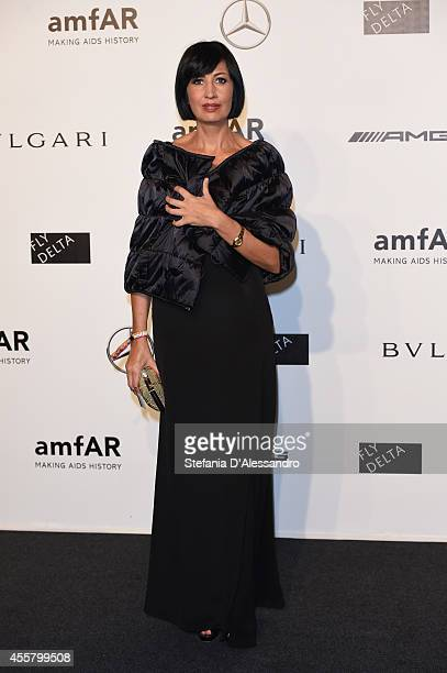 Candida Morvillo attends the amfAR Milano 2014 Gala as part of Milan Fashion Week Womenswear Spring/Summer 2015 on September 20 2014 in Milan Italy