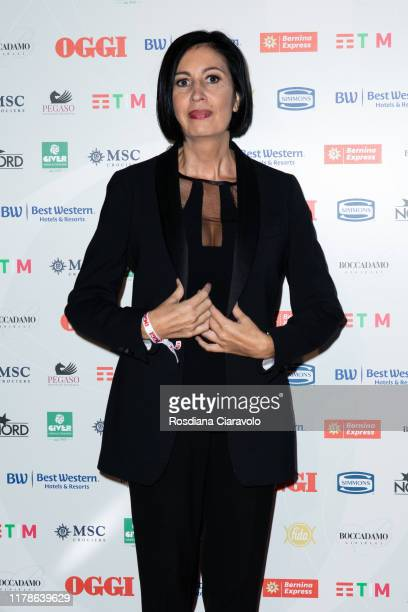 Candida Morvillo attends the celebrations of the 80 years of the Oggi magazine at Hotel Principe di Savoia on October 02, 2019 in Milan, Italy.