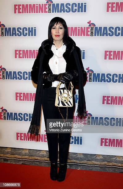 "Candida Morvillo attends the ""Femmine Contro Maschi"" premiere held at Cinema Odeon on January 31, 2011 in Milan, Italy."