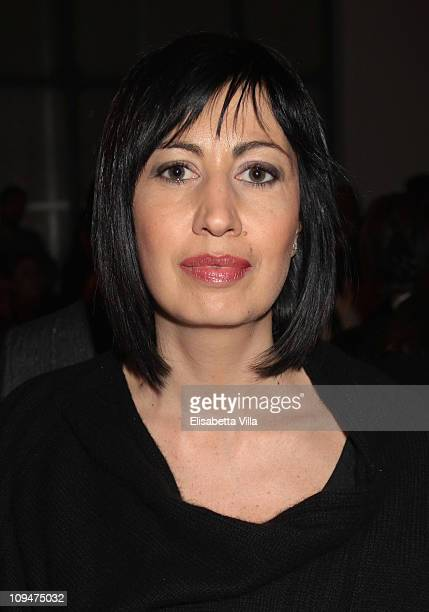 Candida Morvillo attends the Gaetano Navarra show as part of Milan Fashion Week Womenswear Autumn/Winter 2011 on February 27 2011 in Milan Italy