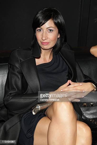 Candida Morvillo attends the John Richmond Party as part of the Paris Womenswear Fashion Week Spring/Summer 2010 at the VIP Room Theatre on October...
