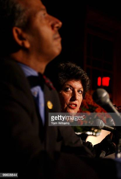 Candidate Carol Schwartz criticizes Mayor of Washington DC Anthony Williams during the mayoral debate held in the H Street Playhouse Monday night