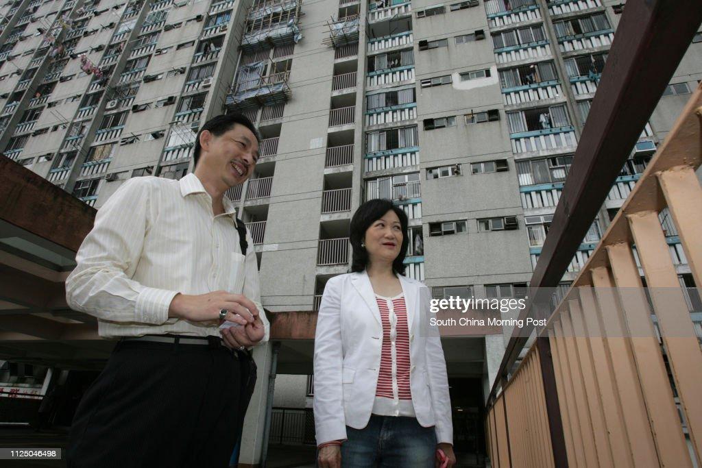 Dc Candidate Ex Inspector King Kong Accompanies Regina Ip Lau Suk Yee News Photo Getty Images