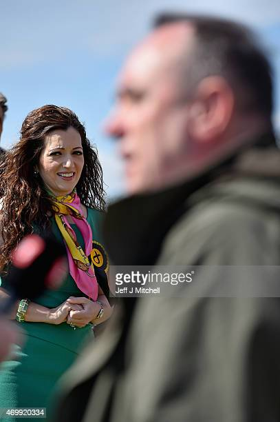 Candidate for Perthshire South and Ochil, Tasmina Ahmed Sheikh, is joined by Alex Salmond, the SNP candidate for the Gordon constituency during...
