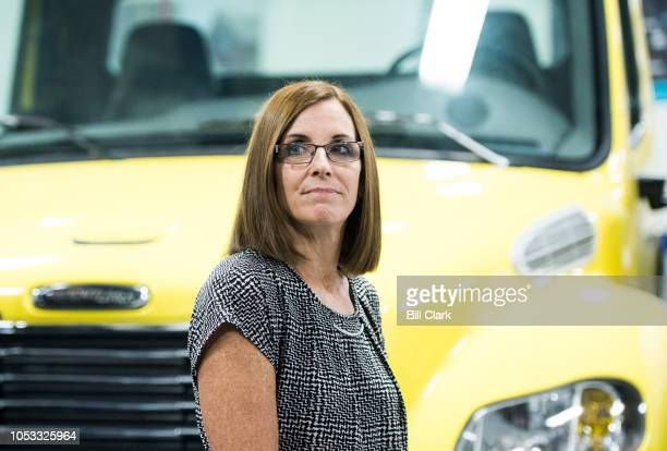 GOP candidate for Senate Rep Martha McSally RAriz tours the Universal Technical Institute in Avondale Ariz outside of Phoenix on Wednesday Oct 24 2018