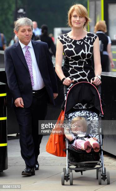 Candidate for Speaker of the Commons John Bercow arrives with wife Sally and fourteenmonthold daughter Jemima ahead of today's vote