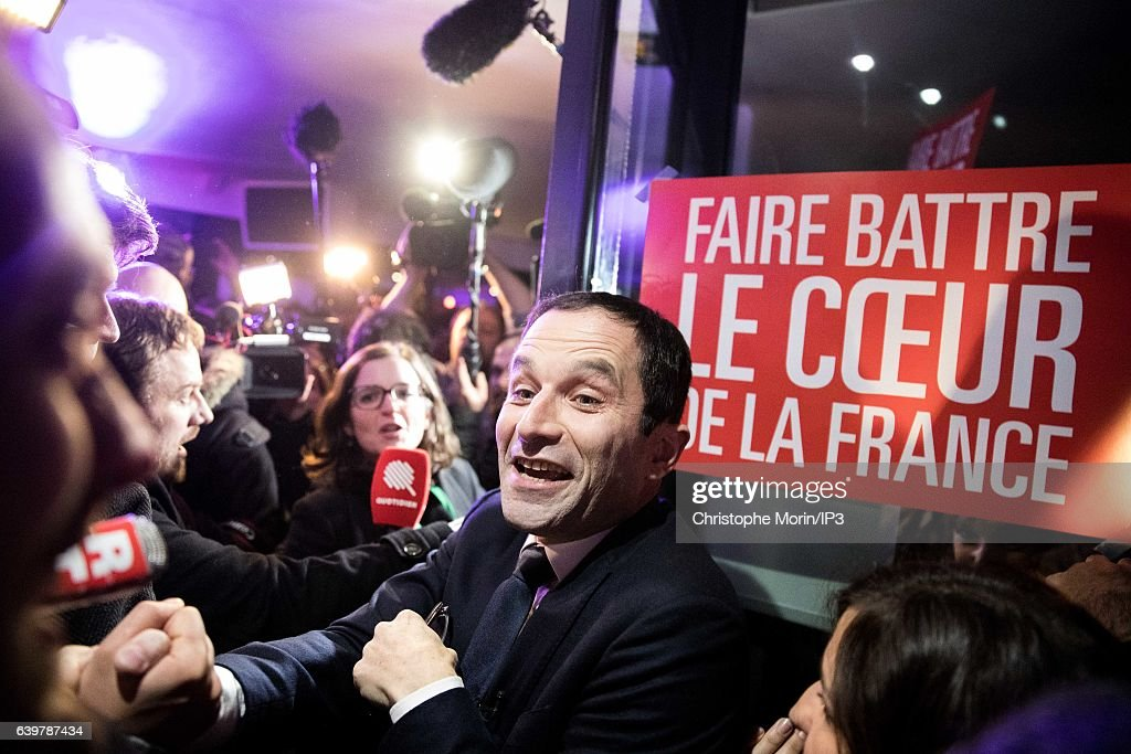 Benoit Hamon Delivers a Speech After Left-wing Primary Ahead Of The 2017 Presidential Election