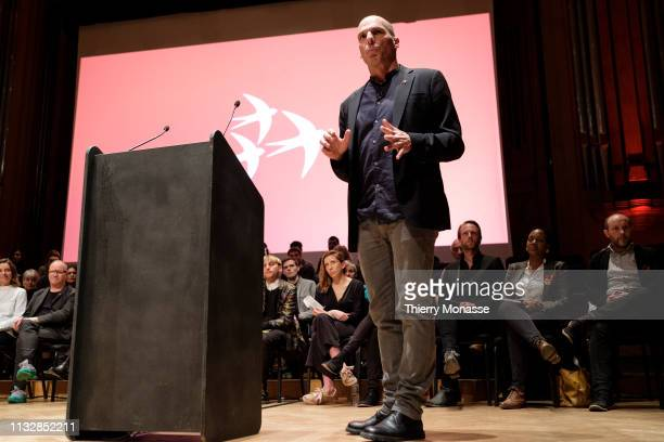 Candidate for the European Commission Presidency Yánis Varoufákis Launch of the Democracy in Europe Movement 2025 on March 25 2019 in Brussels...