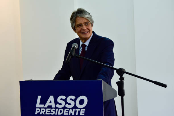 ECU: Ecuadorian Presidential Candidate Guillermo Lasso Holds Press Conference
