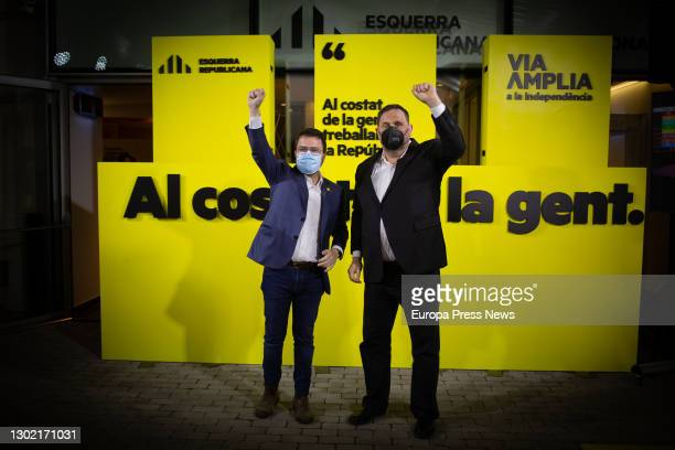 Candidate for the presidency of the Generalitat of Catalonia and acting vice president, Pere Aragonés , and leader of ERC and former vice president...