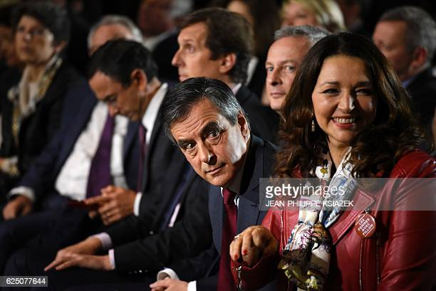 Candidate for the rightwing Les Republicains party primaries ahead of the 2017 presidential election and former French prime minister Francois Fillon...