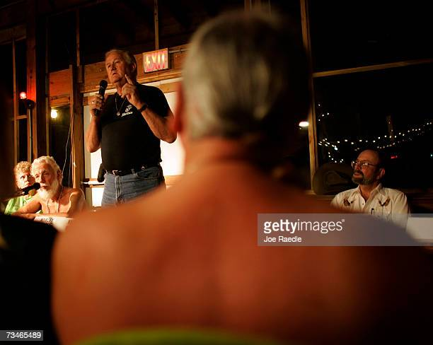 A candidate for town council Harold Murphy speaks during a debate for the open seats on the Loxahatchee Groves Town Council March 1 2007 at the...