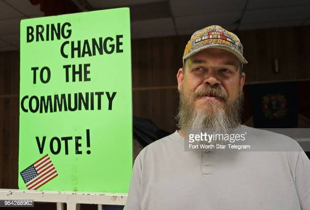 Candidate forum organizer Mike Page before the start of the forum on Tuesday March 17 2018 Political awareness in Mineral Wells Texas is increasing...