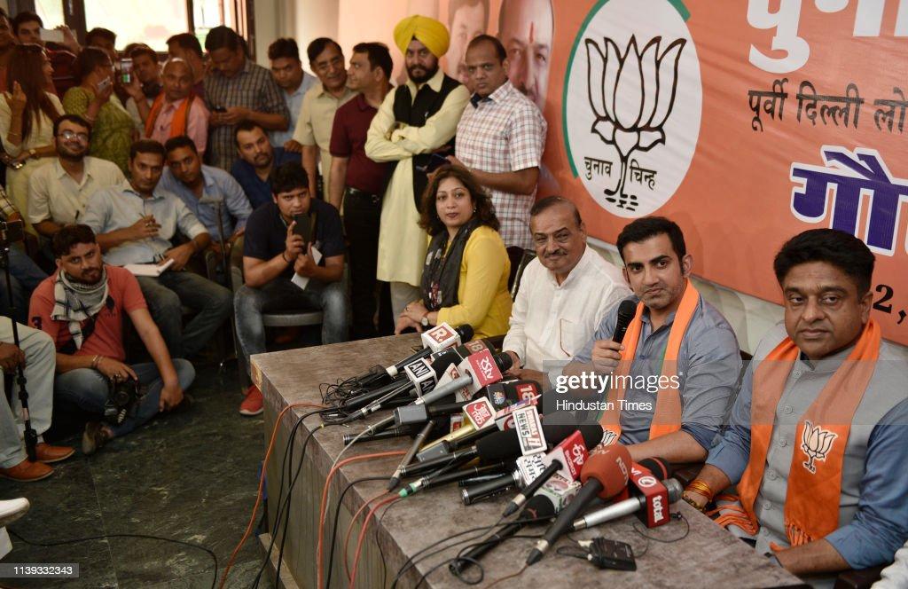 IND: Press Conference Of BJP Candidate From East Delhi Lok Sabha Seat Gautam Gambhir