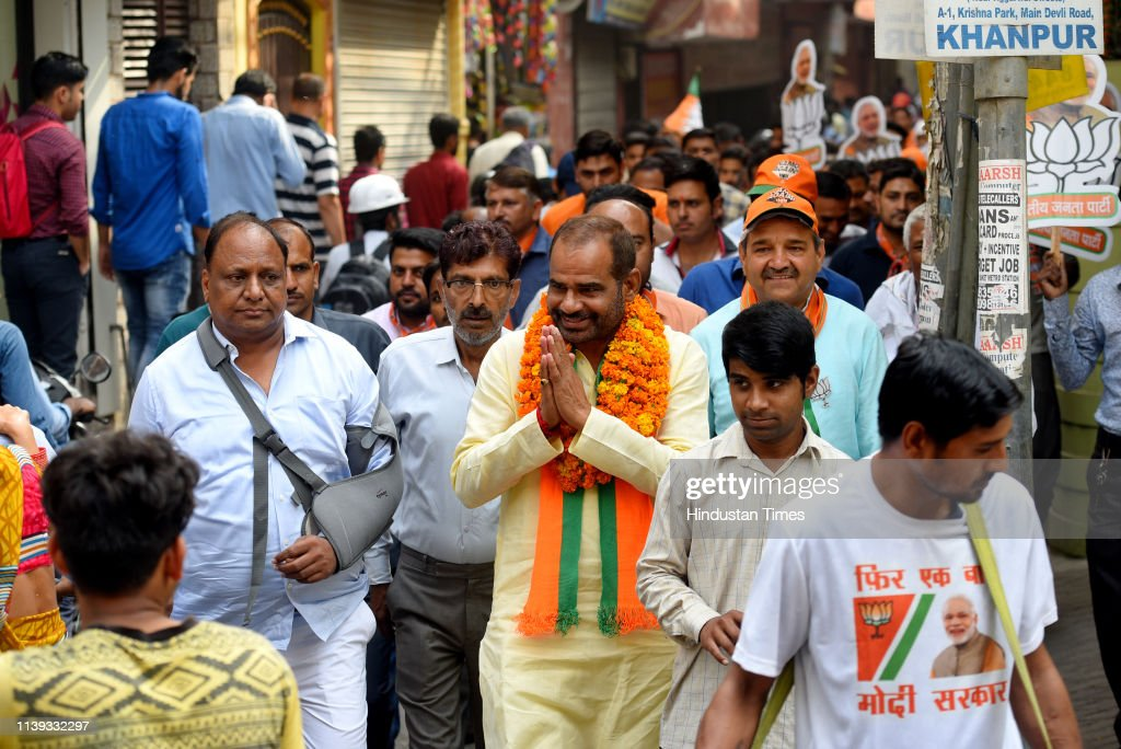 IND: Lok Sabha Elections 2019 BJP Candidate From South Delhi Ramesh Bidhuri Campaigns