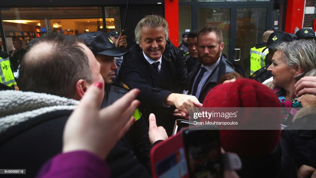 Gert Wilders Campaigns Ahead of Dutch General Elections