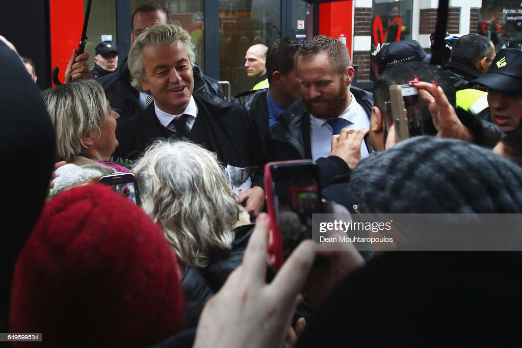 Gert Wilders Campaigns Ahead of Dutch General Elections : News Photo
