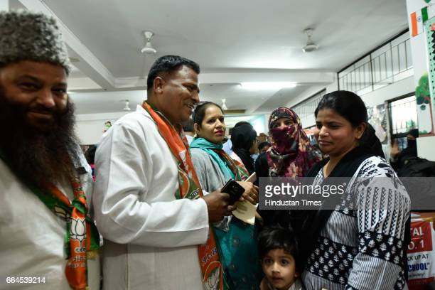 BJP candidate Jamal Haider will be contesting for ward number 102 S Abul Fazal Enclave in the upcoming MCD polls on April 4 2017 in New Delhi India...