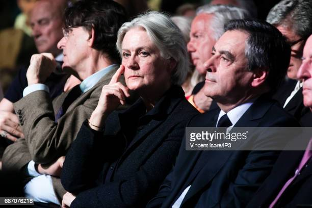 Candidate of Les Republicains right wing Party for the 2017 French Presidential Election Francois Fillon holds a meeting with his wife Penelope at...