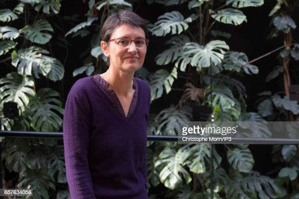 Candidate of the 'Lutte Ouvriere' Party for the 2017 French Presidential Election Nathalie Arthaud attends a gathering of the Association of Mayors...