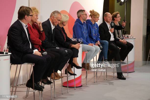 Candidate pairs Ralf Stegner and Gesine Schwan, Dierk Hirschel and Hilde Mattheis, Michael Roth and Christina Kampmann and Olaf Scholz and Klara...