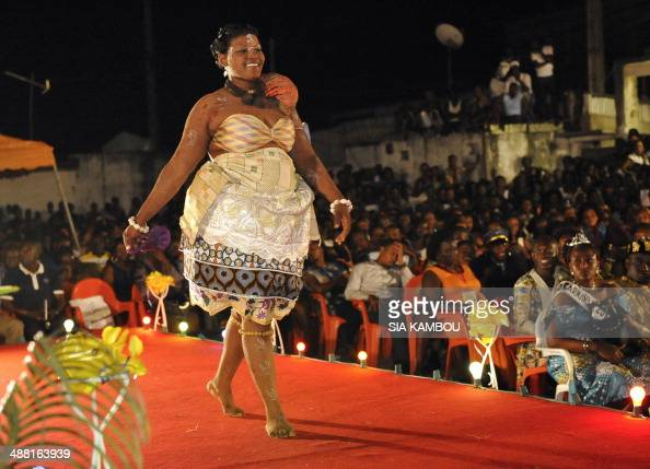 a candidate takes part in the miss awoulaba beauty contest