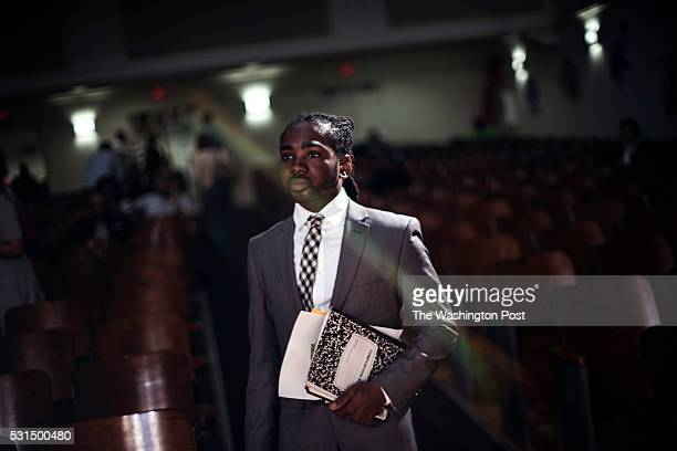 Candidate Trayon White arrives at the Ward 8 Democrats' city council member straw poll forum at Anacostia High School in Washington Saturday May 14...