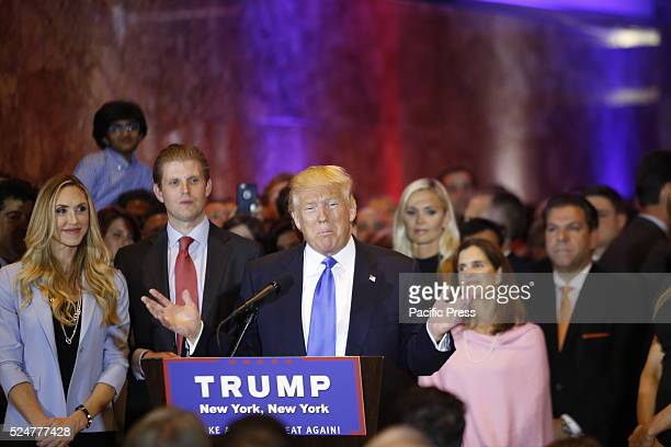 Candidate Trump offers characteristic expression while proclaiming victory in Super Tuesday's five state primary races Front runner for the...