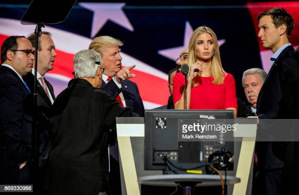 Candidate Trump's daughter Ivanka Trump on stage during the sound check on the final day of the Republican National Convention at Quicken Loans...
