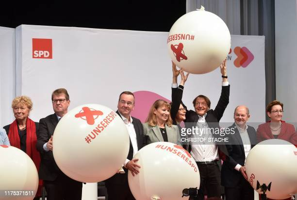 Candidates as chairpersons for the Social Democratic Party SPD Gesine Schwan Ralf Stegner Boris Pistorius Petra Koepping Nina Scheer Karl Lauterbach...
