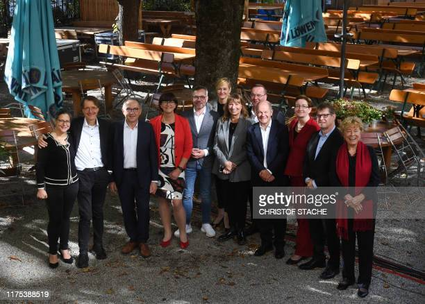 Candidates for the chairman for the Social Democratic Party SPD, Nina Scheer, Karl Lauterbach, Norbert Walter-Borjans, Saskia Esken, Michael Roth,...