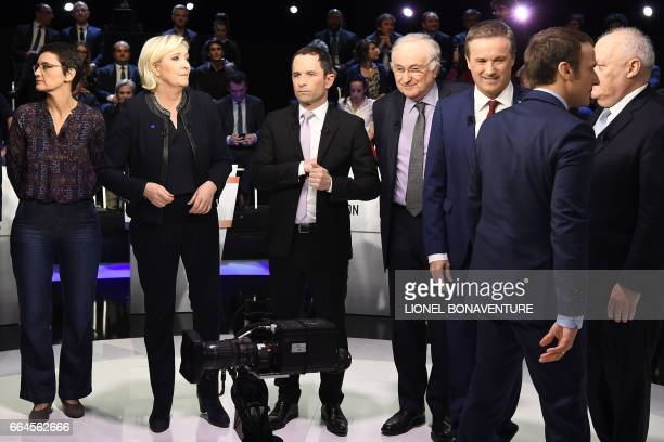 Candidates for the presidential election French presidential election candidate for the farleft Lutte Ouvriere party Nathalie Arthaud French...