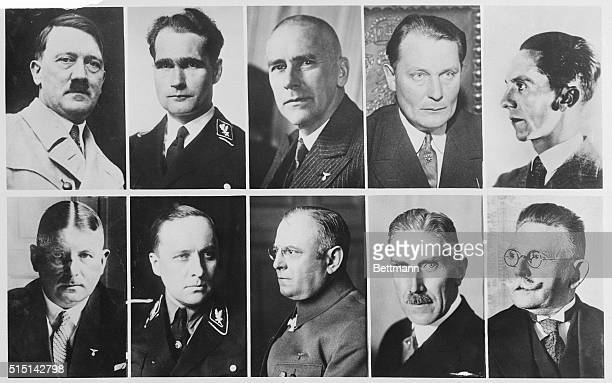 Candidates in the 1933 national elections which consolidated the Nazis' hold on power They are upper row left to right Chancellor Adolph Hitler...