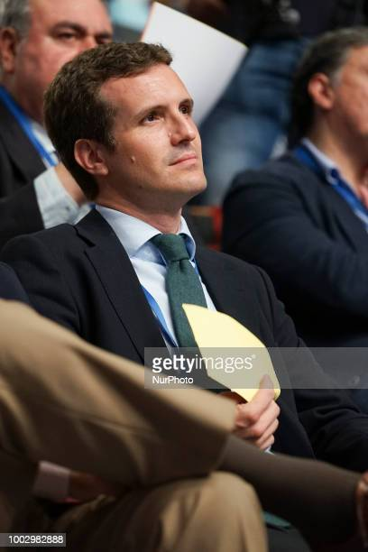 Candidates to lead the Spanish conservative Partido Popular Pablo Casado attend the People's Party national congress held in Madrid Spain 20 July 2018