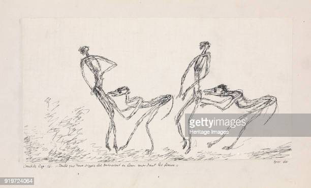 Candide chapitre 16 Tandis que deux singes les suivaient en leur mordant les fesses 1911 Found in the Collection of Zentrum Paul Klee Bern