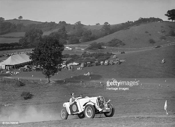 Candidi Provocatores team Singer Le Mans at the Singer CC Rushmere Hill Climb, Shropshire 1935. Singer Le Mans. 1935 972 cc. Vehicle Reg. No. BBY111....