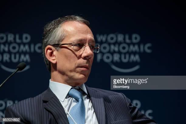 Candido Botelho Bracher chief executive officer of Itau Unibanco Holding SA speaks during the World Economic Forum on Latin America in Sao Paulo...