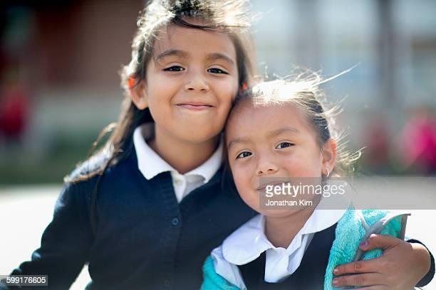 Candids of Catholic school children.