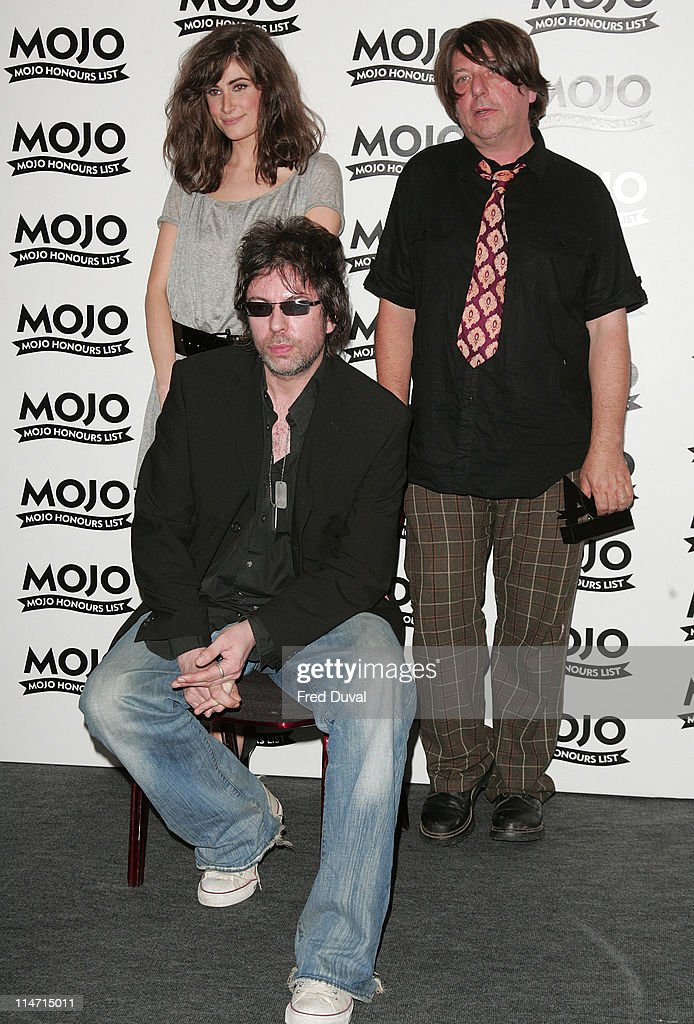 Candie Payne with Ian McCulloch and Will Sergeant of Echo & the Bunnymen, winners of MOJO Maverick award